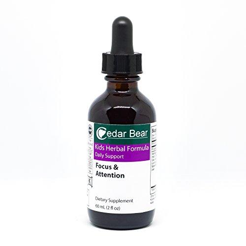 Focus & Attention for Kids, 2 Fl Oz - liquid herbal supplement by Cedar Bear Naturales by Cedar Bear Naturales