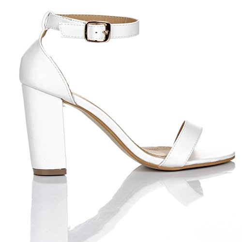 vestir Sintético de para GLAMZ blanco de Material mujer Sandalias wAfqSf