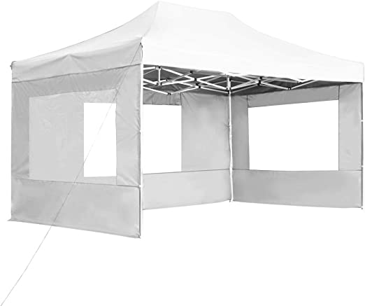 Tidyard Carpa de jardín,Carpa Plegable Profesional de Aluminio Blanca 4,5x3 m: Amazon.es: Hogar