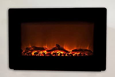 Wall Mounted Electric Fireplace, Smokeless Fireplaces, Wall Mount Heater, Modern and Contemporary Mantel, Portable Fire Place
