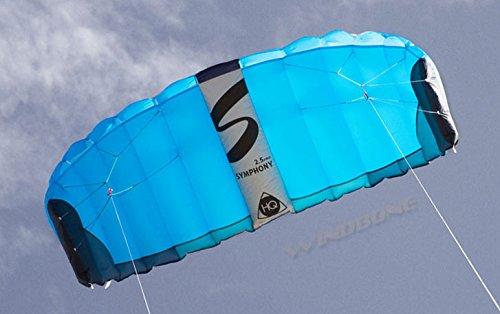 HQ Symphony Pro 2.5 Kite Mega Tail Bundle (4 Items) + Prism 75ft Tube Tail + Peter Lynn Heavy Duty Padded Kite Control Strap Handles Pair + WindBone Kiteboarding Lifestyle Stickers (Rainbow) by HQ Power Kites, Prism, Peter Lynn, WindBone (Image #8)