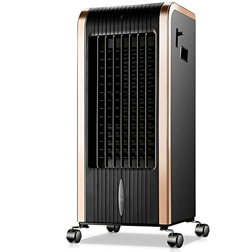 720 Comfort Cooler - GUOWEI Air-Conditioning Fan Air Cooler Heating Filter Humidifier Portable Remote Control Indoor Small Multifunctional (Color : Black, Size : 265x320x720mm)