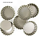 2 Pack(8 Inch) Square Tart Pan and Quiche Pan with