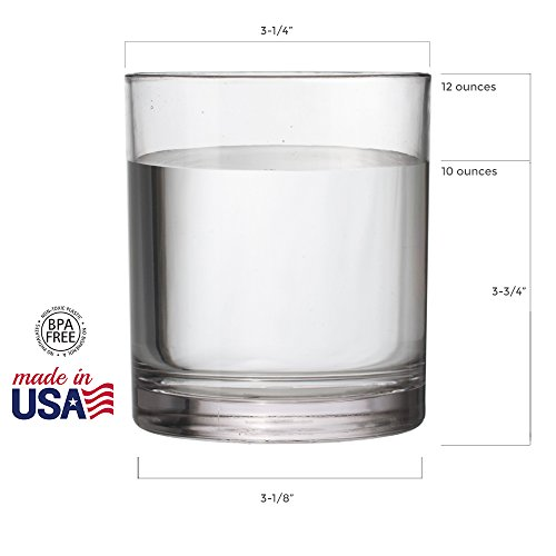 8-Piece Classic SAN Clear Plastic Tumblers | four 14-ounce and four 16-ounce by US Acrylic (Image #2)