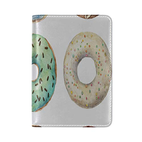Passport Cover Case Colorful Delicious Food Sweet Girl Cartoon Leatherµfiber Multi Purpose Print Passport Holder Travel Wallet For Women And Men 5.51x3.94 In