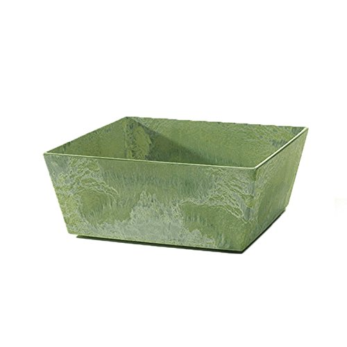 Novelty 36101 Low Square Ella Planter, Sage, 10-Inch ()