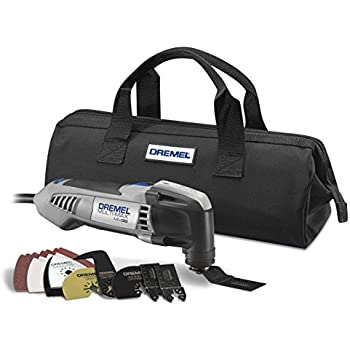 Dremel MM30-04 Multi-Max 3.3-Amp Oscillating Tool Kit with Integrated Quick-Release Wrench and 11 Accessories