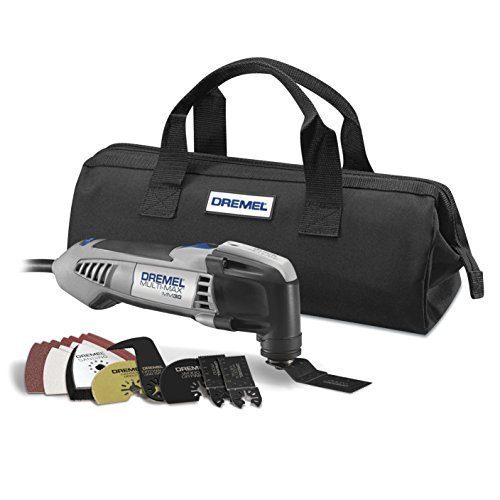Multi-Max 3.3-Amp Oscillating Tool Kit with Integrated Quick-Release Wrench and 11 Accessories - DREMEL MM30-04