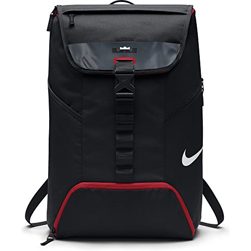 Mens Nike LeBron Max Air Ambassador Backpack Black/University Red Size One Size by NIKE