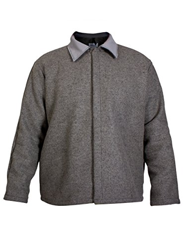 National Safety Apparel C09WN4X30 Wool Coat, 32 oz., 4X-Large, Heather Gray by National Safety Apparel Inc