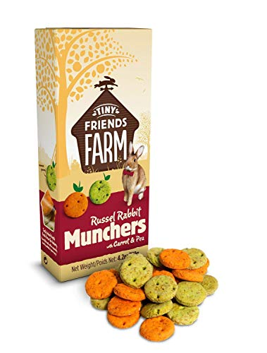 SupremePetfoods Tiny Friends Farm Russel Rabbit Munchers with Carrot & Leek 4.2 oz – Pack of 12
