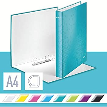 Wow Range Ice Blue 25 mm Spine Leitz 4 Ring Binder 42580051 Holds up to 190 Sheets A4