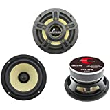 """Lanzar Upgraded Opti Pro 6.5"""" High Power Coaxial Speaker - Powerful 400 Watt Peak 65Hz – 7 kHz Frequency Response 30 Oz Magnet Structure 4 Ohm w/Glass Fiber Cone and Butyl Rubber Surround - OPTI6PM"""