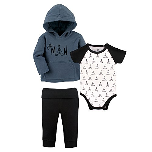 Yoga Sprout Baby Infant 3 Piece Jacket, Top and Pant Set, Little Man, 9-12 Months