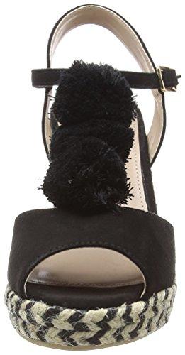 Dorothy Sandales Perkins black Femme Bout Rose 130 Noir Ouvert nHBxw61qfn