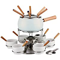 Fondue Set.23 Acero Inoxidable SM.Color Blanco