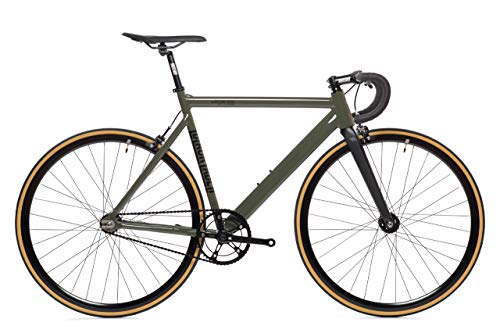 Army Green Black Label 6061 v2 Aluminum State Bicycle | Fixed Gear | 49cmDrop Bar