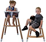 Seedling High Chair by Be Mindful a 2 in 1 Convertible & Modern Baby High Chair