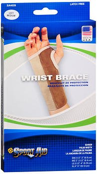 Sport Aid Left Wrist Brace Medium Long- 1 ea, Pack of 5 by SportAid