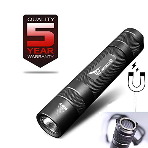 WISSBLUE X2 1500 high Lumen Tactical Flashlight Military Grade, 6 Mode 2M Waterproof Flashlight, Magnetic Base COB Light, LED Tactical Flashlight Rechargeable Gift Box Package Camping ()