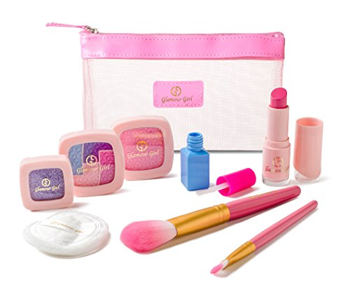 Pretend Makeup Starter Set from the Exclusive Glamour Girl collection- Great For Little Girls & Kids ( Made from colored Foam-NOT Real Makeup)