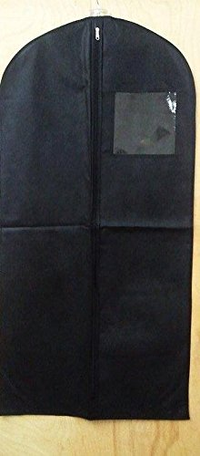 Manne-King 48'' Non-Woven Garment Bag - Black - with ID pocket by Manne-King