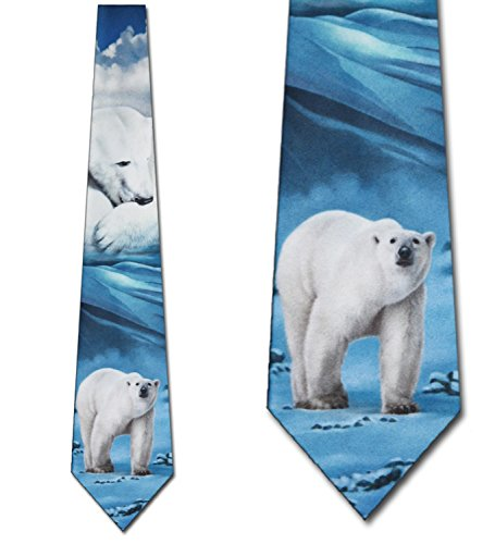 Polar Bear Ties Mens Necktie Tie by Three Rooker -