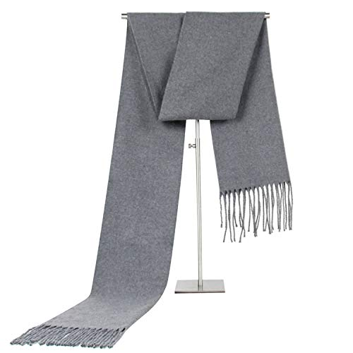Winter Amdxd Rhine Grigio scuro Men Scarf Tassel Change Autumn Cashmere 180cm Monochrome For wFOUxFBzq