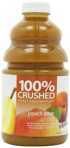Dr. Smoothie 100% Crushed Fruit Smoothie, Peach Pear Apricot, 46-Ounce Bottles (Pack of -