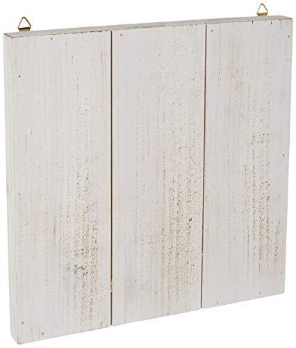 - PA Essentials PAC17 Wood Wall Art Slat BRD WhtWash