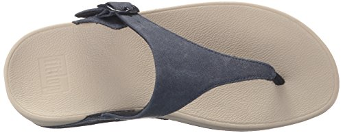Fitflop Women's The Skinny Canvas Toe Thong Flip Flop Midnight Navy U7EcllVru