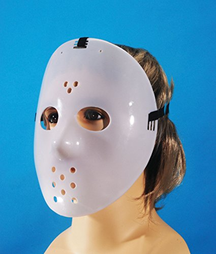 Loftus International Glow-in-The-Dark Adjustable Star Power Jason Hockey Face Mask, One Size (Hockey Mask Halloween Costume)