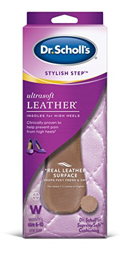 (Dr. Scholl's Ultrasoft Leather Insoles for High Heels (Women's 6-10) // Relief of High Heel Pain plus a Real Leather Surface)