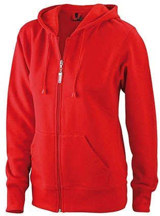 James & Nicholson Damen Sweatjacke Hooded XXL,White