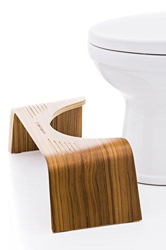 Squatty Potty The Original Bathroom Toilet Stool – Slim Teak Finish, 7 inch Height