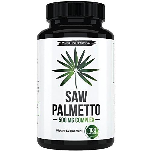 Cápsulas de Saw Palmetto para la próstata salud - extracto y polvo complejo para reducir la micción frecuente - bloqueador de DHT para luchar contra el pelo pérdida - suplemento Natural 500mg - 100% garantía de devolución de la baya