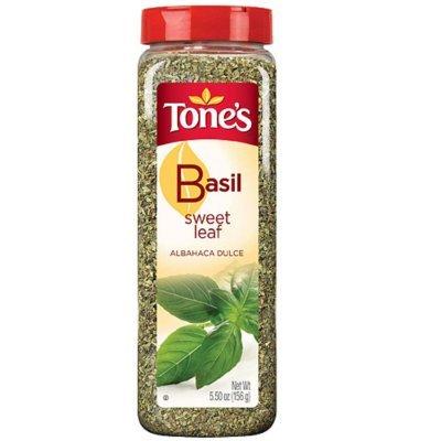 Tone's Sweet Basil Leaf - 5.5 oz. shaker (2 Pack)