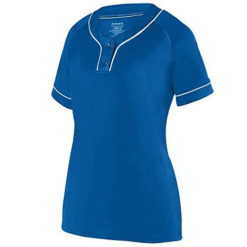 Augusta Sportswear Girls Overpower Two-Button Jersey L Royal/White