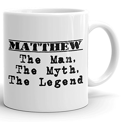 Best Personalized Mens Gift! The Man the Myth the Legend - Coffee Mug Cup for Dad Boyfriend Husband Grandpa Brother in the Morning or the Office - M Set 1