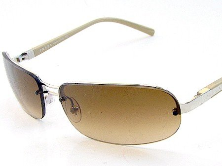 8268ce26771cf New Prada Spr 59H Spr59H 1Bc-6S1 Sunglasses 59-14-125 Faded Brown Lens  Silver Havana Temple  Amazon.co.uk  Clothing