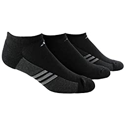 adidas Men\'s Climacool Superlite No-Show Socks (Pack of 3), Black/Graphite/Medium Lead, Large: fits shoe size 6-12