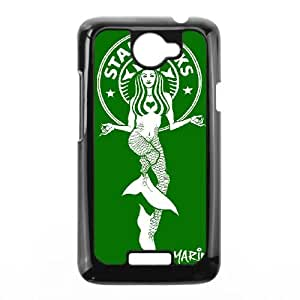 Personality customization TPU Case with Starbucks Starbucks HTC One X Cell Phone Case Black