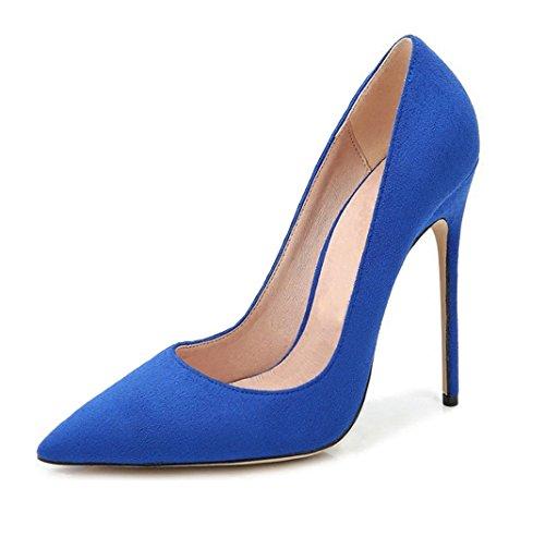 Haut Escarpins CM Femme Coupe EDEFS Femme Bleu 12 Aiguille Fermées Talon YPgn7qR