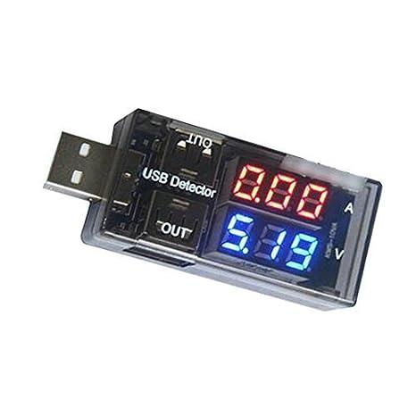 EULAGPRE Detector de Voltaje de Corriente USB Detector de Medición Detectores Doble Herramienta de Visualización DIY: Amazon.es: Bricolaje y herramientas