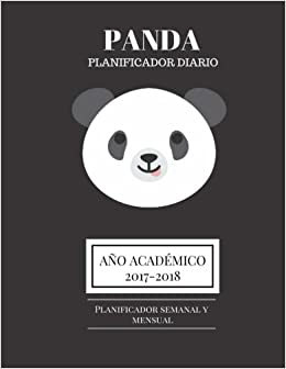 Amazon.com: Panda planificador diario: Año académico 2017 ...