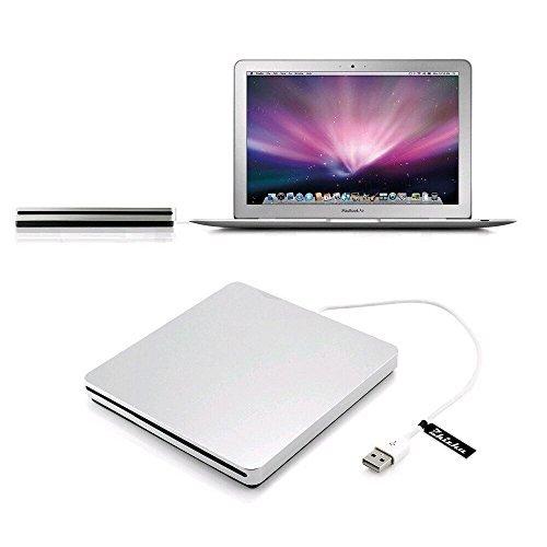 Zhizhu External CD Drive USB DVD Drive CD Burner Player with USB 2.0 Cable USB Superdrive for Mac Apple iMac
