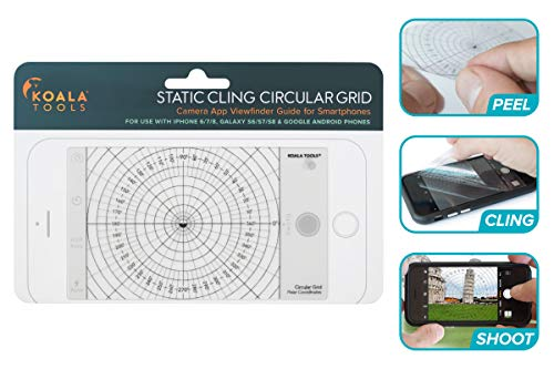 Koala Tools Compatible Phone Camera Grid Transparency - Circular 360˚   Combines with Camera Lens Kits for Easy Professional Level Photography