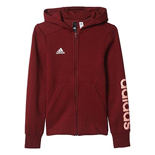 Felpa buruni Bambina Suabri Rosso Davanti Per Aperta Yg Adidas Linear Hd Mod Fz wnfSXpSaq