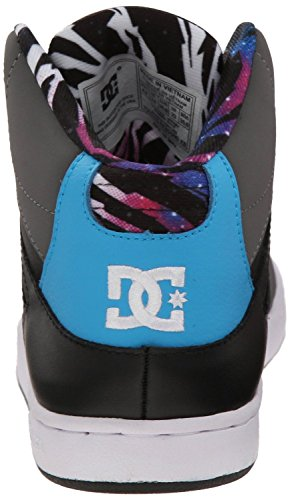 DC Rebound Hi Grigio Nero Blu Donna Skate Trainers Scarpe Stivali