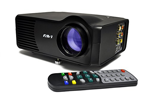 FAVI LED-3 LED LCD (SVGA) Mini Video Projector - US Version (Includes Warranty) - Black (RioHD-LED-3)